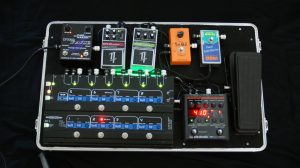 dixon case with  gig rig pedal switcher