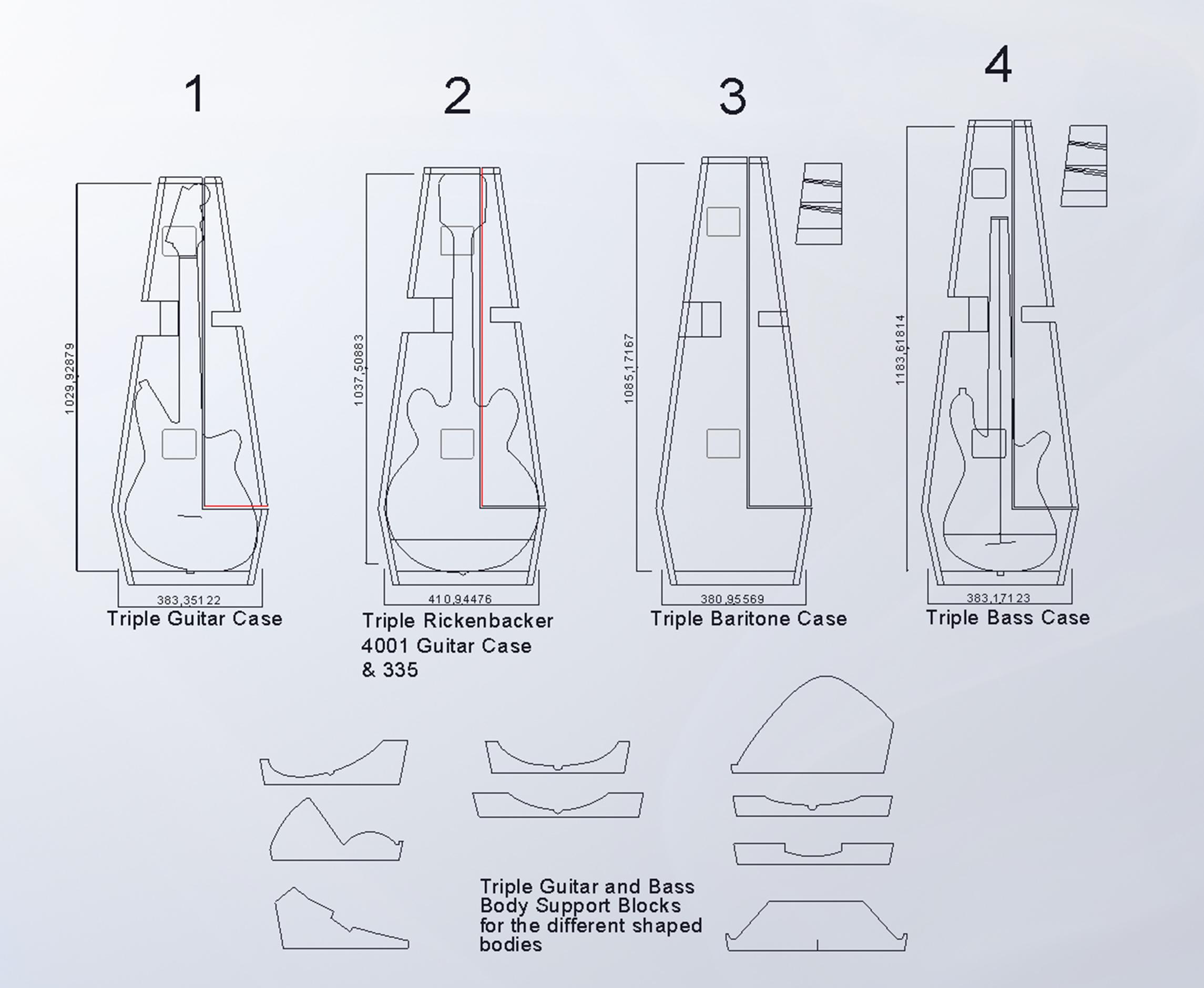 triple row cases